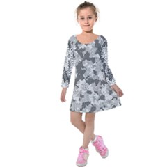 Camouflage Patterns Kids  Long Sleeve Velvet Dress