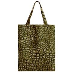 Aligator Skin Zipper Classic Tote Bag
