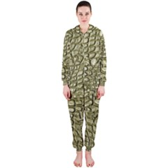 Aligator Skin Hooded Jumpsuit (Ladies)