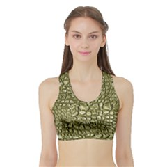 Aligator Skin Sports Bra with Border