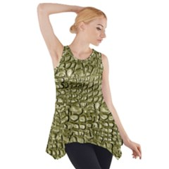 Aligator Skin Side Drop Tank Tunic