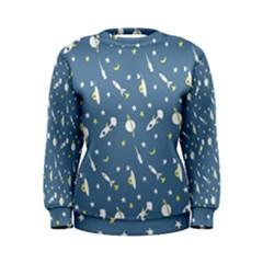 Space Rockets Pattern Women s Sweatshirt