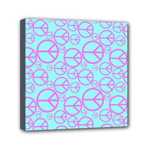 Peace Sign Backgrounds Mini Canvas 6  x 6