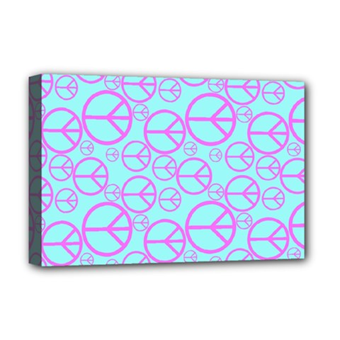 Peace Sign Backgrounds Deluxe Canvas 18  x 12