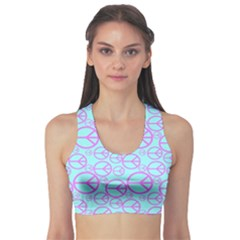 Peace Sign Backgrounds Sports Bra