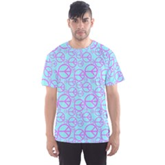 Peace Sign Backgrounds Men s Sports Mesh Tee