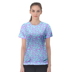 Peace Sign Backgrounds Women s Sport Mesh Tee