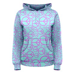 Peace Sign Backgrounds Women s Pullover Hoodie