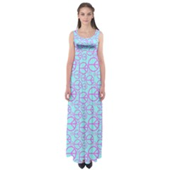 Peace Sign Backgrounds Empire Waist Maxi Dress