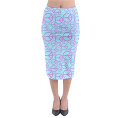 Peace Sign Backgrounds Midi Pencil Skirt