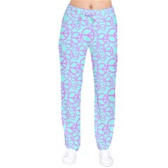 Peace Sign Backgrounds Drawstring Pants