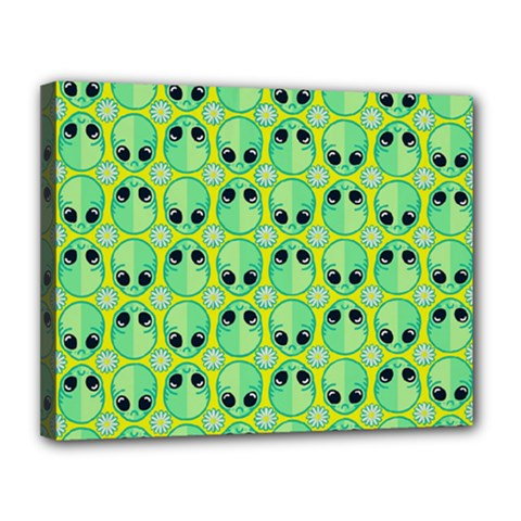 Alien Pattern Canvas 14  X 11