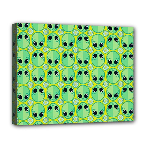 Alien Pattern Deluxe Canvas 20  X 16