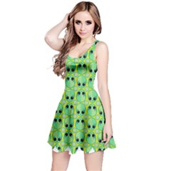 Alien Pattern Reversible Sleeveless Dress