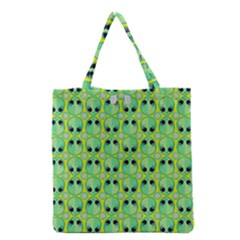 Alien Pattern Grocery Tote Bag