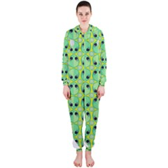 Alien Pattern Hooded Jumpsuit (ladies)
