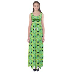 Alien Pattern Empire Waist Maxi Dress