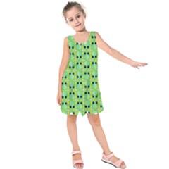 Alien Pattern Kids  Sleeveless Dress