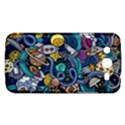 Cartoon Hand Drawn Doodles On The Subject Of Space Style Theme Seamless Pattern Vector Background Samsung Galaxy Mega 5.8 I9152 Hardshell Case  View1