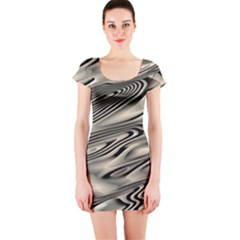 Alien Planet Surface Short Sleeve Bodycon Dress