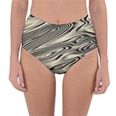 Alien Planet Surface Reversible High Waist Bikini Bottoms