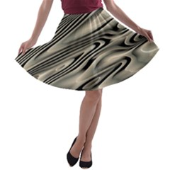 Alien Planet Surface A-line Skater Skirt