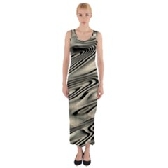 Alien Planet Surface Fitted Maxi Dress