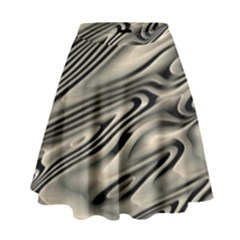 Alien Planet Surface High Waist Skirt