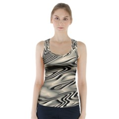 Alien Planet Surface Racer Back Sports Top