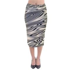 Alien Planet Surface Velvet Midi Pencil Skirt