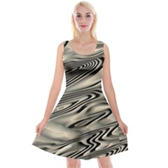 Alien Planet Surface Reversible Velvet Sleeveless Dress