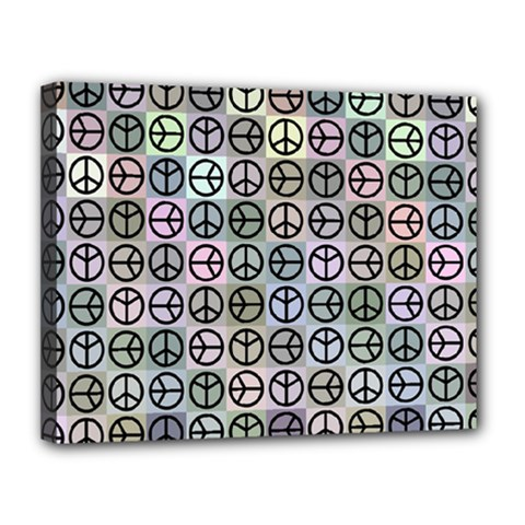 Peace Pattern Canvas 14  x 11
