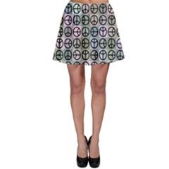 Peace Pattern Skater Skirt
