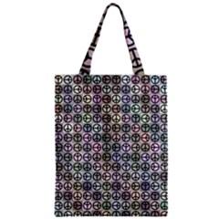 Peace Pattern Zipper Classic Tote Bag
