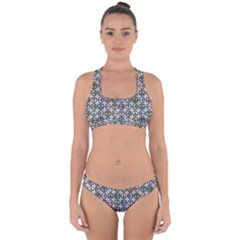 Peace Pattern Cross Back Hipster Bikini Set
