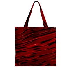 Alien Sine Pattern Zipper Grocery Tote Bag