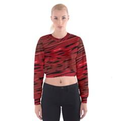 Alien Sine Pattern Cropped Sweatshirt