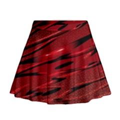 Alien Sine Pattern Mini Flare Skirt