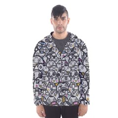 Alien Crowd Pattern Hooded Wind Breaker (Men)
