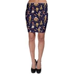 Alien Surface Pattern Bodycon Skirt