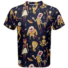 Alien Surface Pattern Men s Cotton Tee