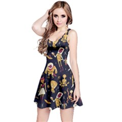 Alien Surface Pattern Reversible Sleeveless Dress