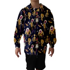 Alien Surface Pattern Hooded Wind Breaker (Kids)