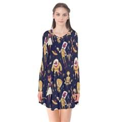 Alien Surface Pattern Flare Dress