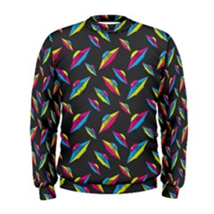 Alien Patterns Vector Graphic Men s Sweatshirt