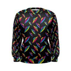 Alien Patterns Vector Graphic Women s Sweatshirt