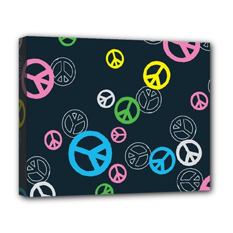 Peace & Love Pattern Deluxe Canvas 20  x 16