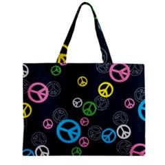 Peace & Love Pattern Mini Tote Bag