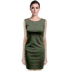 Alien Wires Texture Classic Sleeveless Midi Dress