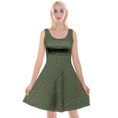 Alien Wires Texture Reversible Velvet Sleeveless Dress